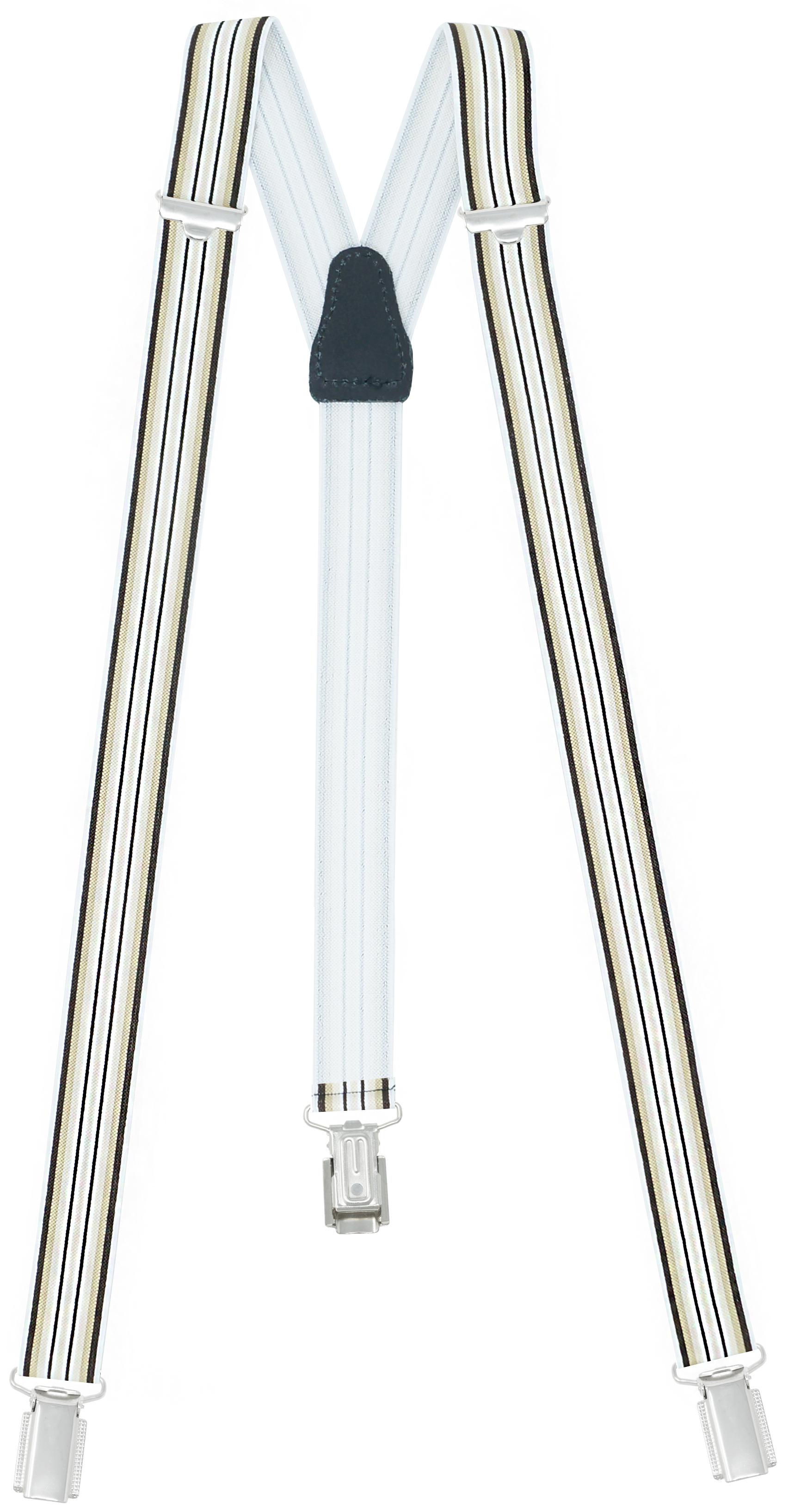 25mm Breit mit 3 Clips - Braun / Beige