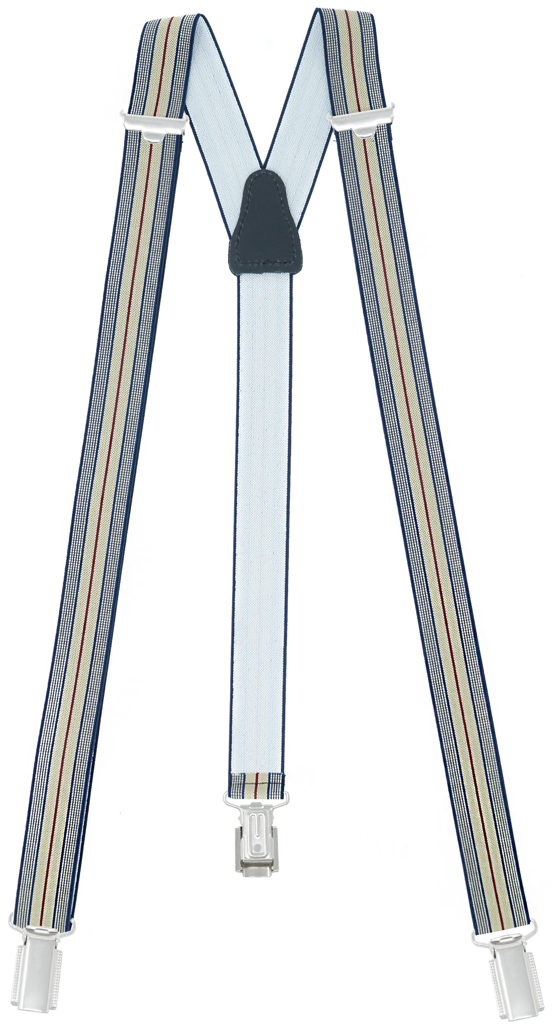 25mm Breit mit 3 Clips - Blau / Beige